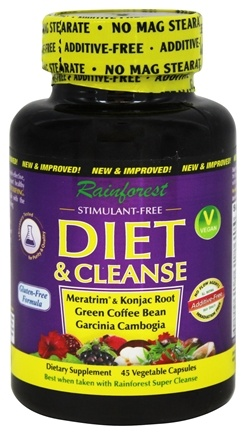 DROPPED: Rainforest - Diet & Cleanse - 45 Vegetarian Capsules