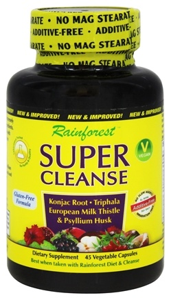 DROPPED: Rainforest - Super Cleanse - 45 Vegetarian Capsules