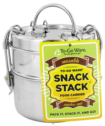 Zoom View - Snack Stack 2-Tier Tiffin Set Stainless Steel Food Carrier