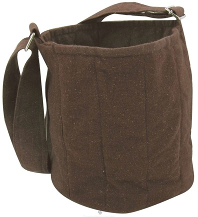 DROPPED: To-Go Ware - 2-Tier Recycled Cotton Carrier Bag Plum Brown - CLEARANCE PRICED