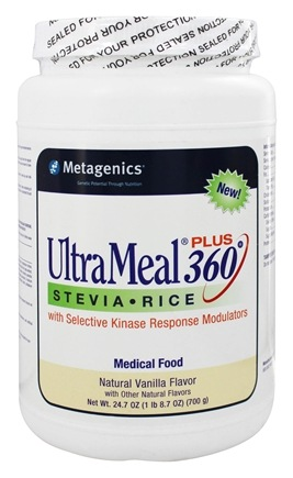 DROPPED: Metagenics - UltraMeal Plus 360 Stevia Rice Medical Food Natural Vanilla Flavor - 24.7 oz.