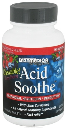 DROPPED: Enzymedica - Acid Soothe Berry Burst - 90 Chewable Tablets