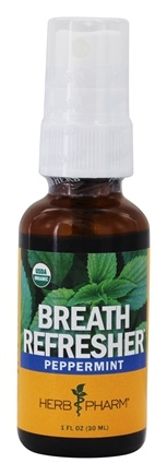 DROPPED: Herb Pharm - Herbal Breath Spray Tonic Peppermint - 1 oz.