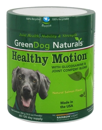 DROPPED: Green Dog Naturals - Healthy Motion with Glucosamine & Joint Comfort Blend Powder 60-120 Day Supply Natural Salmon Flavor - 10.5 oz.