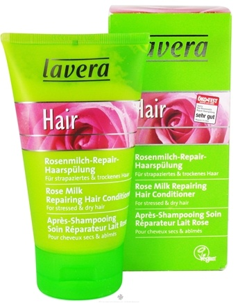 DROPPED: Lavera - Conditioner Repairing For Stressed & Dry Hair Rose Milk - 5 oz.