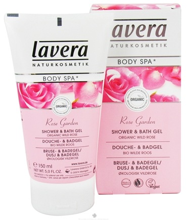 DROPPED: Lavera - Body Spa Organic Shower & Bath Gel Rose Garden - 5 oz. CLEARANCE PRICED