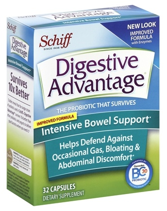 DROPPED: Schiff - Digestive Advantage Intensive Bowel Support - 32 Capsules