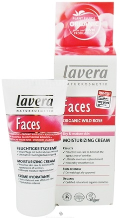 DROPPED: Lavera - Faces Moisturizing Cream Organic Wild Rose - 1 oz. CLEARANCE PRICED