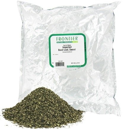 DROPPED: Frontier Natural Products - Basil Leaf Sweet Imported Cut & Sifted - 1 lb. CLEARANCE PRICED