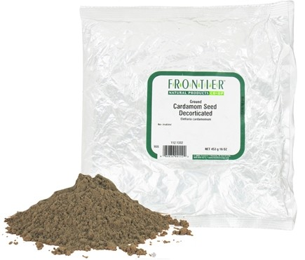 DROPPED: Frontier Natural Products - Cardamom Seed Ground Decorticated - 1 lb. CLEARANCE PRICED