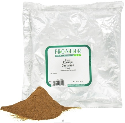 DROPPED: Frontier Natural Products - Cinnamon Ground Korintje - 1 lb.