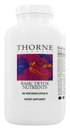 DROPPED: Thorne Research - Basic Detox Nutrients - 360 Vegetarian Capsules