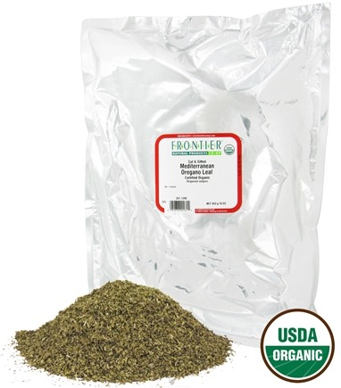 DROPPED: Frontier Natural Products - Oregano Leaf Cut & Sifted Mediterranean Organic - 1 lb. CLEARANCE PRICED