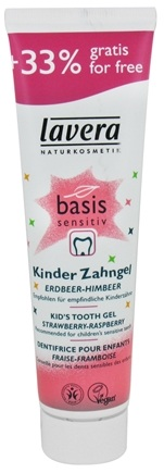 DROPPED: Lavera - Basis Sensitiv Kid's Tooth Gel Fluoride Free Strawberry-Raspberry - 3.4 oz.