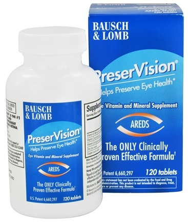 DROPPED: Bausch & Lomb - PreserVision AREDS Formula - 120 Tablet(s) CLEARANCE PRICED
