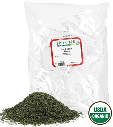 DROPPED: Frontier Natural Products - Parsley Leaf Flakes Organic - 1 lb. CLEARANCE PRICED