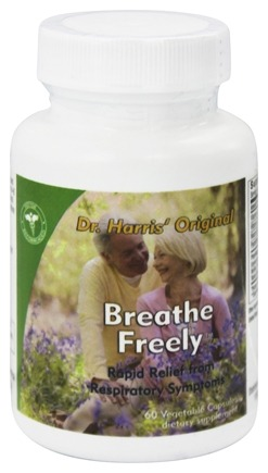 DROPPED: Dr. Harris Original - Breathe Freely - 60 Vegetarian Capsules formerly EZ Breathing