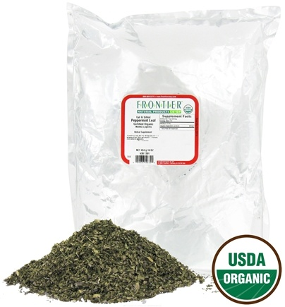DROPPED: Frontier Natural Products - Peppermint Leaf Cut & Sifted Organic - 1 lb. CLEARANCE PRICED