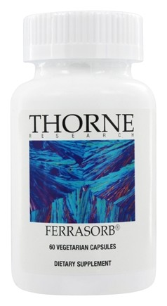 DROPPED: Thorne Research - Ferrasorb - 60 Vegetarian Capsules