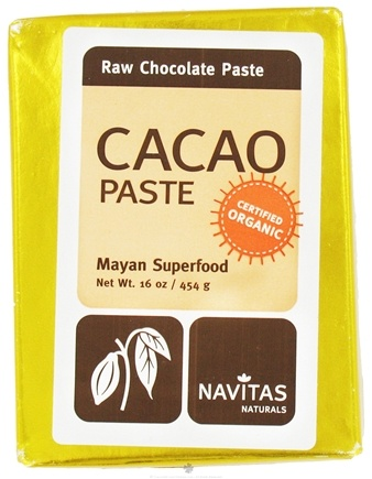 DROPPED: Navitas Naturals - Cacao Paste Raw Chocolate Certified Organic - 16 oz. CLEARANCE PRICED