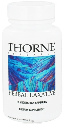 DROPPED: Thorne Research - Herbal Laxative - 90 Vegetarian Capsules CLEARANCE PRICED
