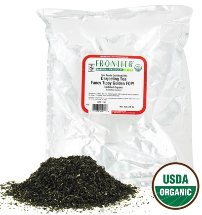 DROPPED: Frontier Natural Products - Bulk Darjeeling Tea Fancy Tippy Golden FOP Organic - 1 lb. CLEARANCE PRICED