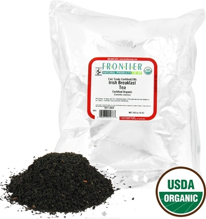 DROPPED: Frontier Natural Products - Bulk Irish Breakfast Tea Organic - 1 lb.