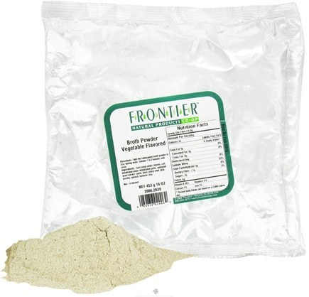DROPPED: Frontier Natural Products - Broth Powder Vegetable Flavored - 1 lb. CLEARANCE PRICED