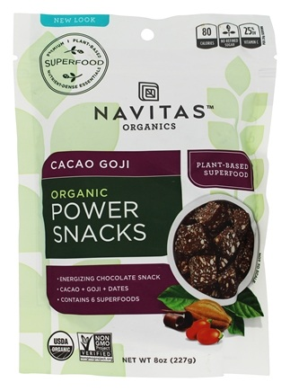 Navitas Organics - Power Snack Goji Super Food Cacao - 8 oz.