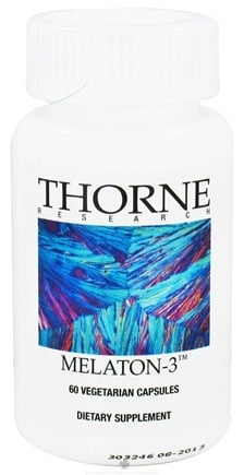 DROPPED: Thorne Research - Melaton 3 mg. - 60 Vegetarian Capsules CLEARANCE PRICED