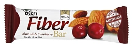 Oskri - Gluten Free Fiber Bar Almond & Cranberry - 1.9 oz.