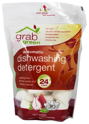 DROPPED: GrabGreen - Automatic Dishwashing Detergent 24 Loads Red Pear with Magnolia - 15.2 oz.