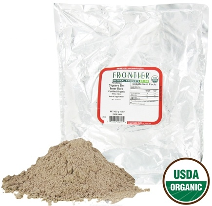 DROPPED: Frontier Natural Products - Slippery Elm Bark Powder Organic - 1 lb.