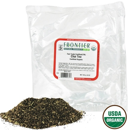 DROPPED: Frontier Natural Products - Bulk Chai Tea Organic - 1 lb. CLEARANCE PRICED