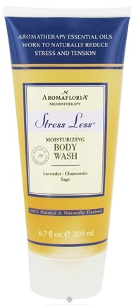 DROPPED: AromaFloria - Stress Less Moisturizing Body Wash Aromatherapy Lavender Chamomile Sage - 6.7 oz. CLEARANCE PRICED