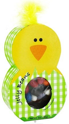 Zoom View - Assorted Jelly Beans in Easter Chick Character Box