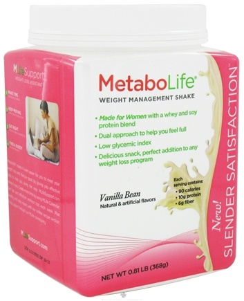 DROPPED: MetaboLife - Slender Satisfaction Shake Vanilla Bean - 0.81 lb.
