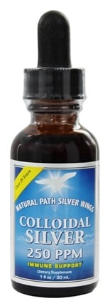 Natural Path Silver Wings - Colloidal Silver 250 Ppm - 1 oz.