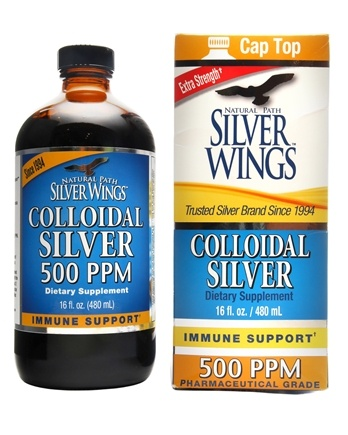 Natural Path Silver Wings - Colloidal Silver 500 Ppm - 16 fl. oz.