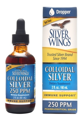 Natural Path Silver Wings - Colloidal Silver 250 Ppm - 2 oz.