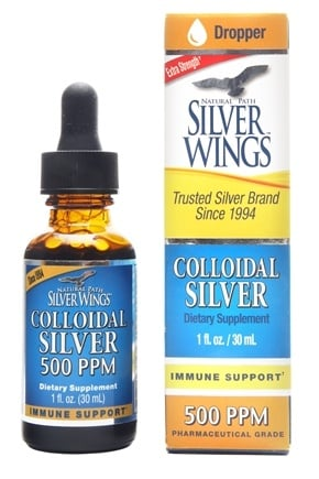 Natural Path Silver Wings - Colloidal Silver 500 Ppm - 1 oz.