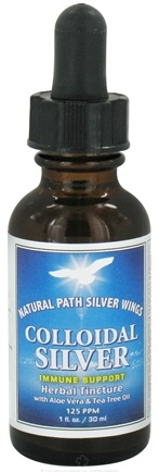 DROPPED: Natural Path Silver Wings - Colloidal Silver Herbal Tincture with Aloe Vera and Tea Tree Oil - 1 oz. CLEARANCE PRICED