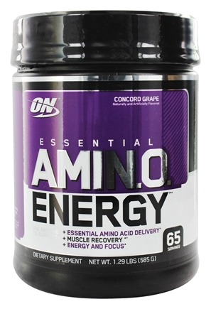Optimum Nutrition - Essential AmiN.O. Energy Concord Grape 65 Servings - 1.29 lbs.
