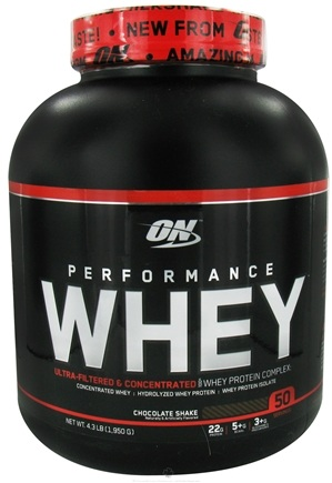 DROPPED: Optimum Nutrition - Performance Whey 50 Servings Chocolate Shake - 4.3 lbs.