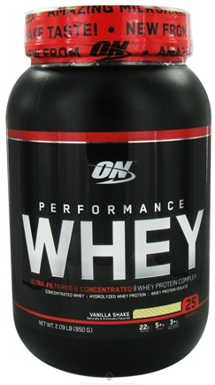 DROPPED: Optimum Nutrition - Performance Whey 25 Servings Vanilla Shake - 2.09 lbs. CLEARANCE PRICED