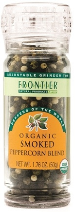 DROPPED: Frontier Natural Products - Peppercorn Blend Smoked Organic - 1.76 oz. CLEARANCE PRICED
