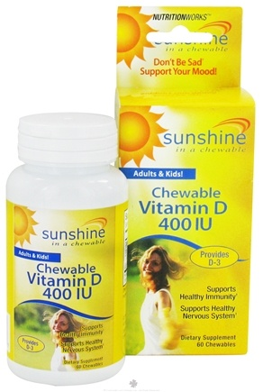 DROPPED: NutritionWorks - Sunshine Vitamin D 400 IU - 60 Chewables