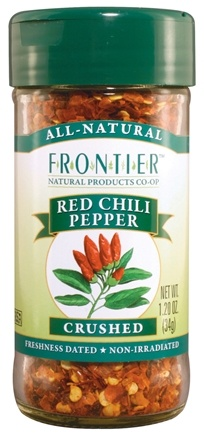 DROPPED: Frontier Natural Products - Red Chili Peppers Crushed - 1.2 oz. CLEARANCE PRICED