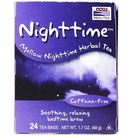 DROPPED: NOW Foods - Nighttime Mellow Herbal Tea Caffeine-Free - 24 Tea Bags CLEARANCE PRICED