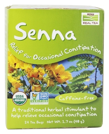NOW Foods - Senna Tea Relief For Occasional Constipation - 24 Tea Bags